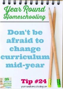 Year Round Homeschooling Tip #24