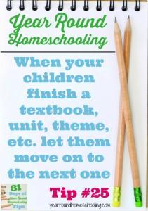 Year Round Homeschooling Tip #25