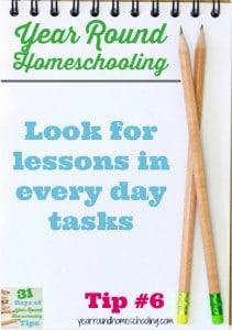 Year Round Homeschooling Tip #6