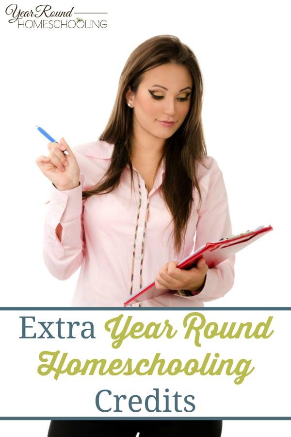 extra homeschool credits, homeschool credits, extra credits, homeschool