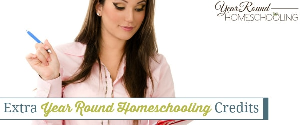 extra homeschool credits, homeschool credits, extra credits, homeschool