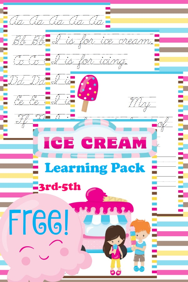 ice cream 3rd-5th, ice cream, 3rd-5th, printable, worksheets