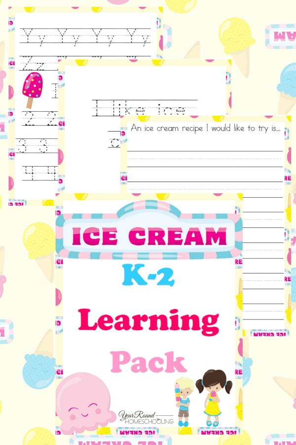 ice cream K-2, K-2 ice cream, ice cream printable, ice cream worksheets, k-2