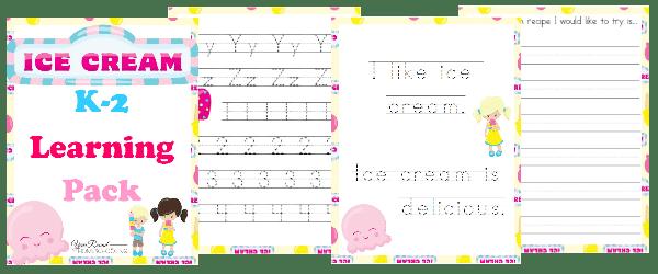 ice cream K-2, K-2 ice cream, ice cream printable, ice cream worksheets, k-2