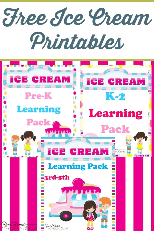 free ice cream unit study and printables