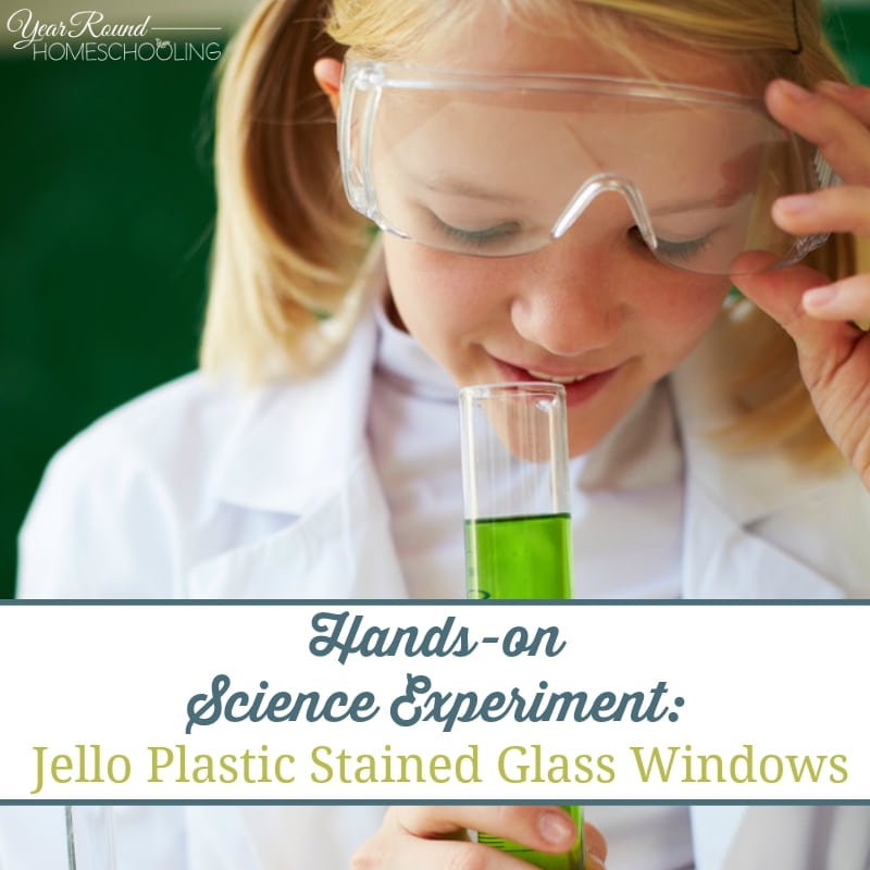 Hands-on Science: Experiment:  Jello Plastic Stained Glass Windows