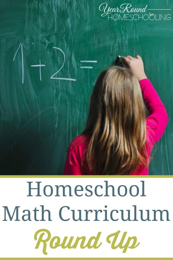 Homeschool Math Curriculum Round Up - Year Round Homeschooling