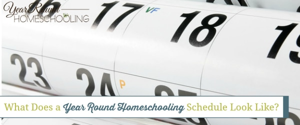 What Does a Year Round Homeschooling Schedule Look Like?