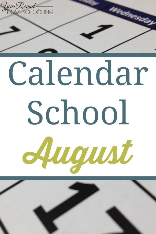 Calendar School - August - By Jenny