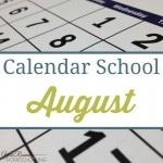 Calendar School – August