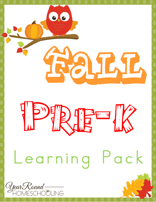 Fall PreK Learning Pack