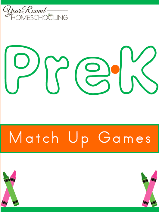 Free Pre-K Match Up Game Pack - By Year Round Homeschooling