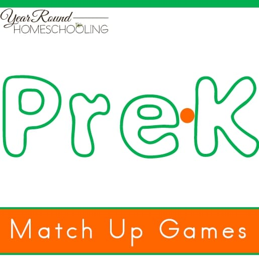 Pre-K Match Up Game Pack