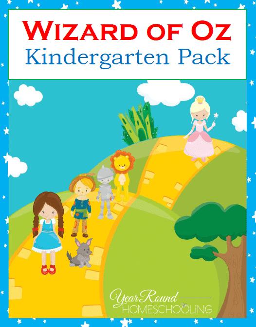 Free Wizard of Oz Kindergarten Pack - Year Round Homeschooling