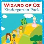Free Wizard of Oz Kindergarten Pack - By Year Round Homeschooling