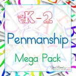 Free K-2 Penmanship Mega Pack - By Year Round Homeschooling