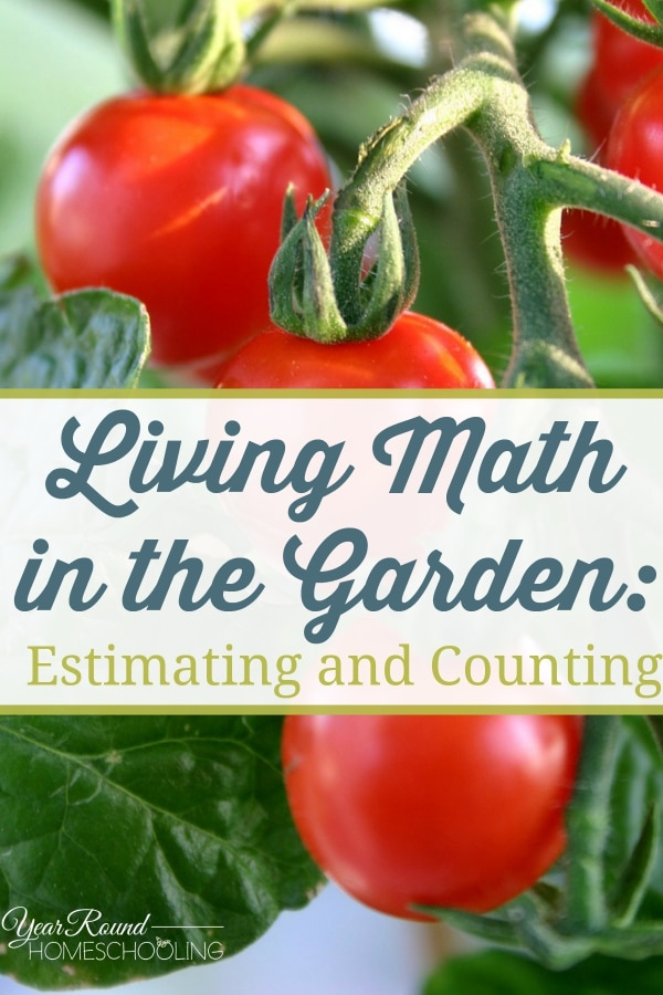 Living Math in the Garden - Estimating and Counting - By Joyice