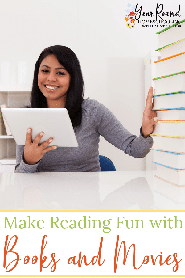 make reading fun with books and movies, reading fun with books and movies, books and movies reading fun
