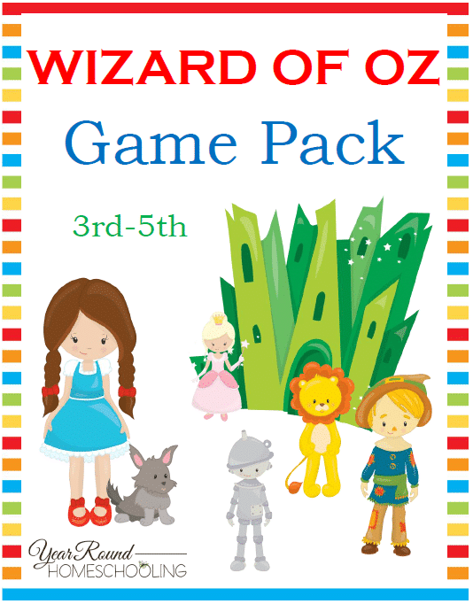 Free Wizard of Oz 3rd-5th Game Pack - By Year Round Homeschooling
