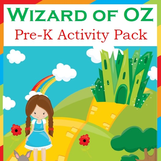 Wizard of Oz PreK Activity Pack