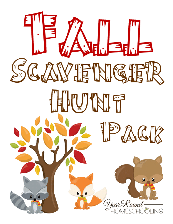 Free Fall Scavenger Hunt Pack