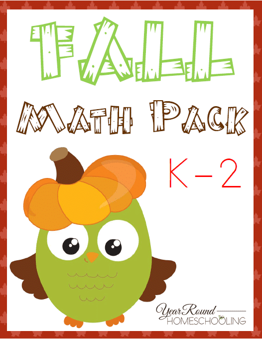 Free Fall Math Pack K2 Year Round Homeschooling – Fall Math Worksheets