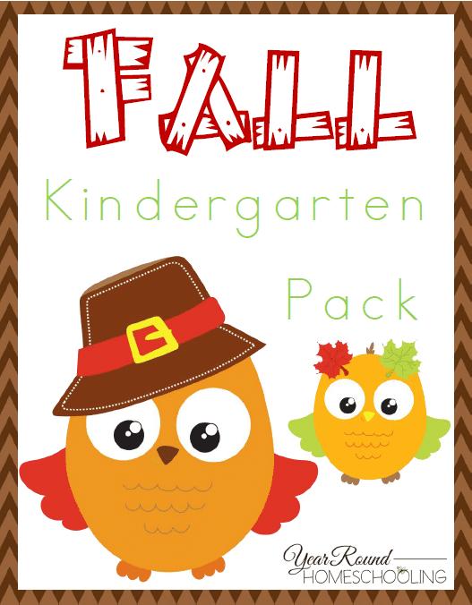 Free Fall Kindergarten Pack