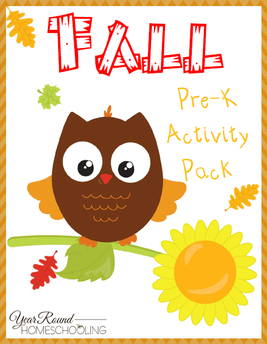 Free Fall PreK Activity Pack - By Year Round Homeschooling