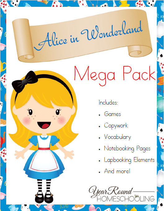Free Alice in Wonderland Mega Pack - By Year Round Homeschooling