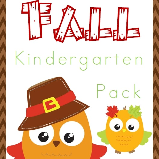 Fall Kindergarten Pack