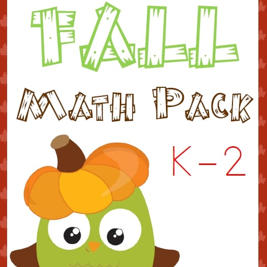 Fall Math Pack (K-2)