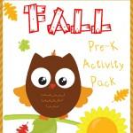 Free Fall PreK Activity Pack