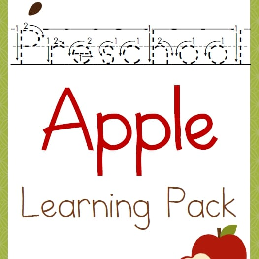 Preschool Apple Learning Pack