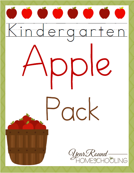 Free Kindergarten Apple Pack