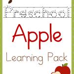 Free Preschool Apple Learning Pack