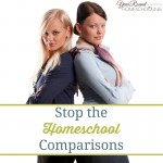 Stop the Homeschool Comparisons