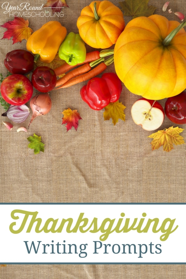 Thanksgiving Writing Prompts - By Jennifer H .