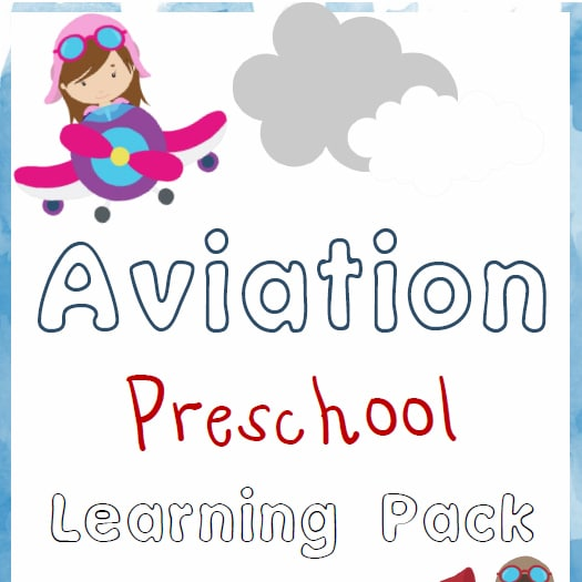 Aviation Preschool Learning Pack