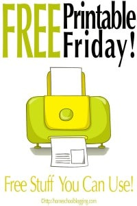 Free Printable Friday - By The Homeschool Blogging Connection Team