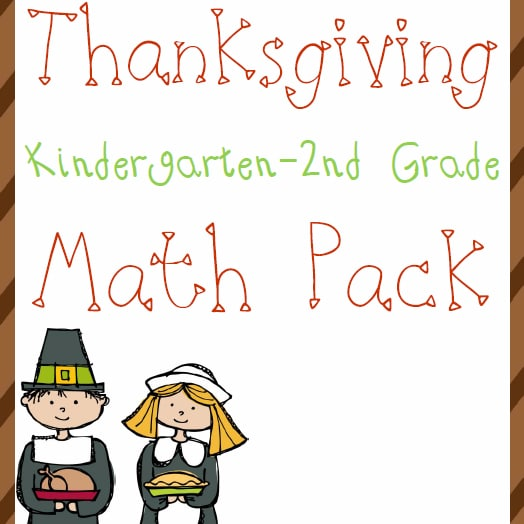 Thanksgiving Math Pack (K-2)