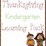 Free Thanksgiving Kindergarten Learning Pack