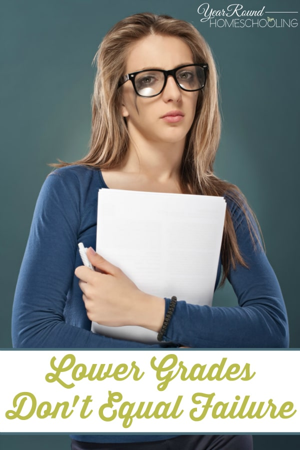 Lower Grades Don't Equal Failure - By Misty Leask