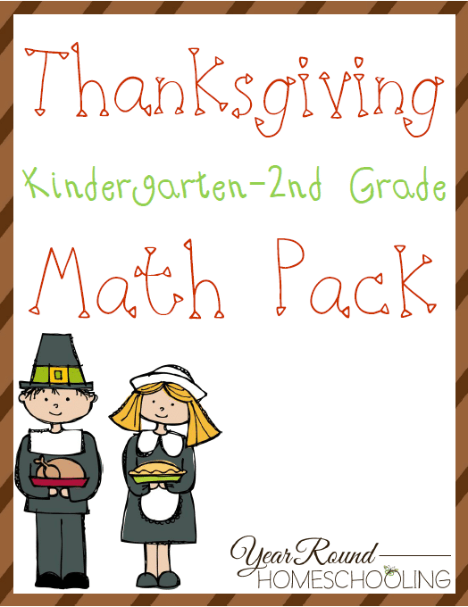 Free Thanksgiving Math Pack K2 Year Round Homeschooling – Thanksgiving Math Worksheets Middle School