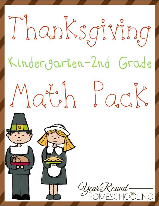 Free Thanksgiving K-2 Math Pack
