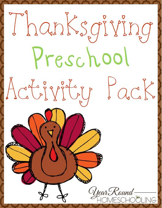 Free Thanksgiving Preschool Fun Pack