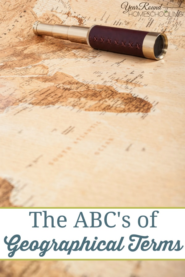 The ABCs of Geographical Terms - By Misty Leask
