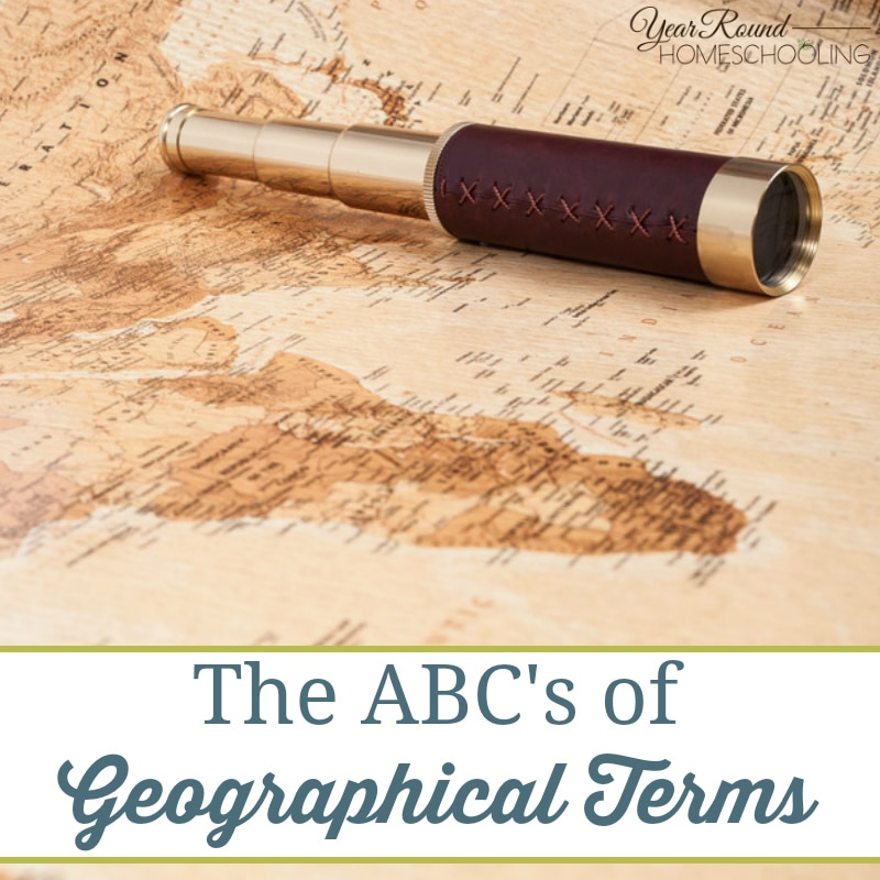 The ABC's of Geographical Terms