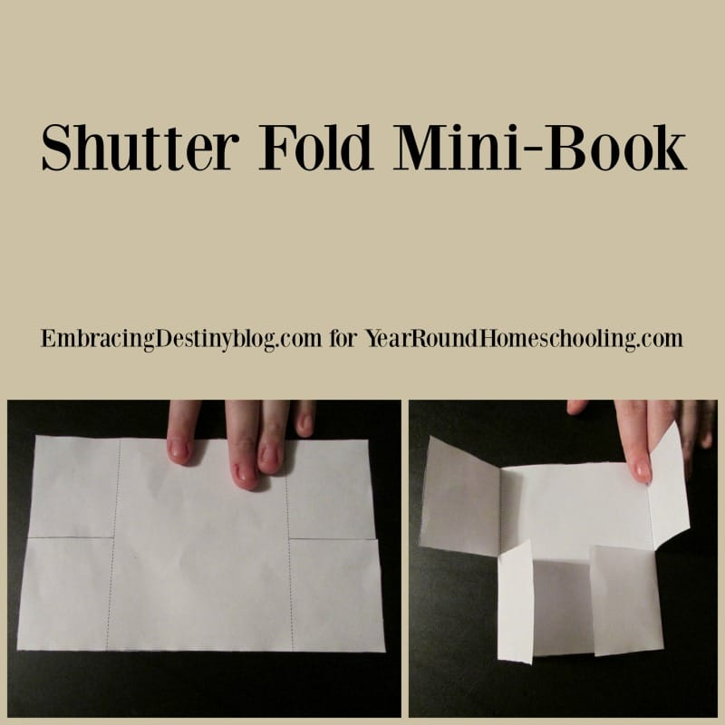 Shutter Fold mini book for lapbooking