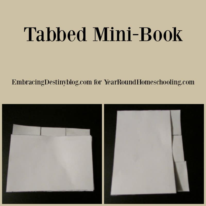 tabbed mini book for lapbooking