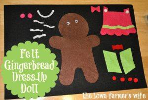Felt Gingerbread Dress-up Doll